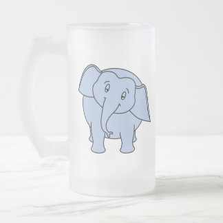 Elefante soñoliento azul. Historieta Taza De Café