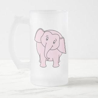 Elefante soñoliento rosado. Historieta Jarra De Cerveza Esmerilada
