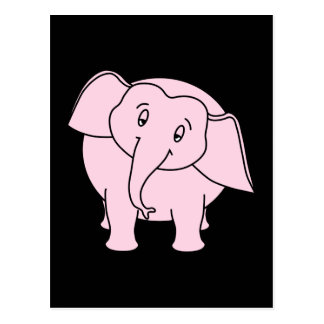 Elefante soñoliento rosado. Historieta Postal
