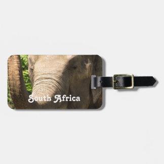 Elefante surafricano etiquetas de maletas