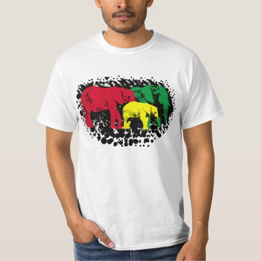 Elefante T sucio de Rasta Playera