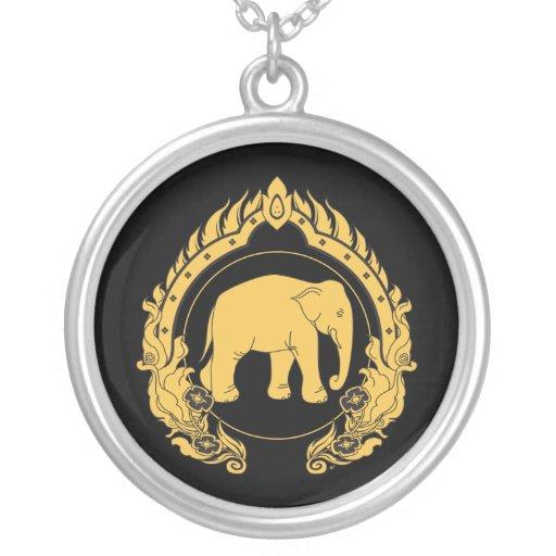 Elefante tailandés colgante redondo