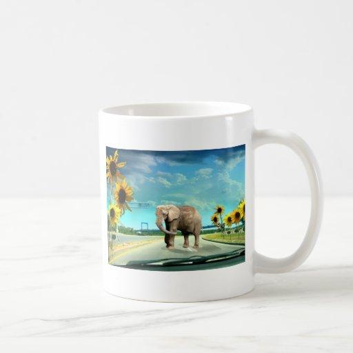 Elefante Taza Básica Blanca