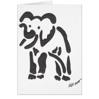 elefante tribal sepia tarjetas