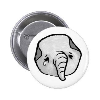 Elefante triste pin