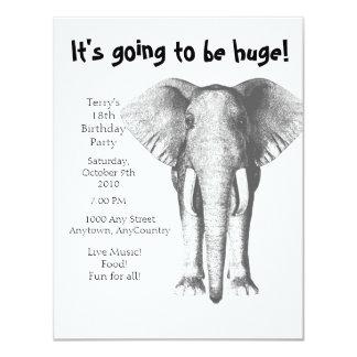Elefante--Va a ser cumpleaños enorme Invitacion Personal