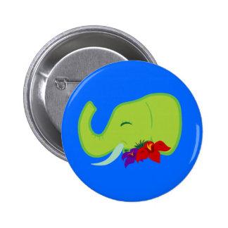 Elefante verde pin