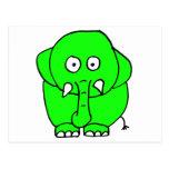 Elefante verde postales
