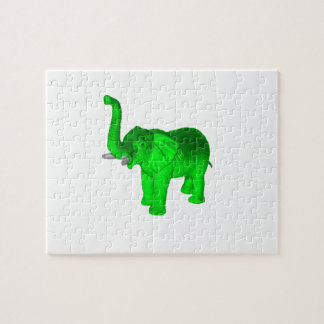 Elefante verde puzzle