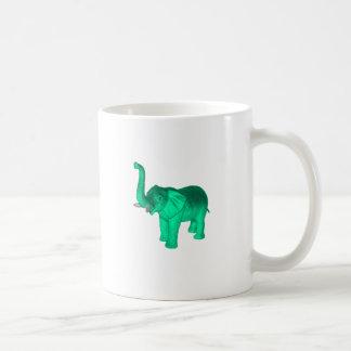 Elefante verde suave taza de café