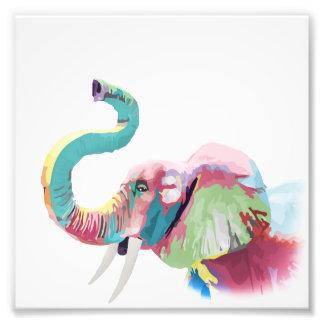 Elefante vibrante colorido de moda impresionante fotografía