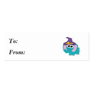 elefante witchy del azul de los goofkins tarjetas de visita mini