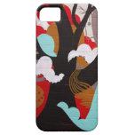 Elefante y árbol del arte abstracto iPhone 5 Case-Mate coberturas