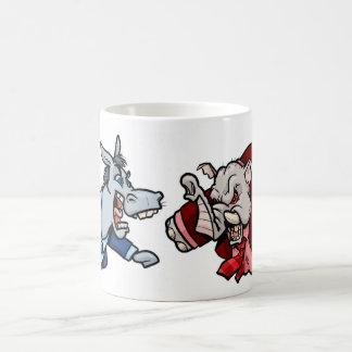 Elefante y burro taza