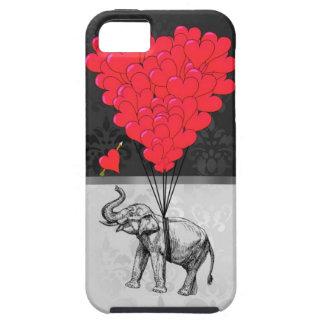 Elefante y corazón del amor iPhone 5 Case-Mate carcasas