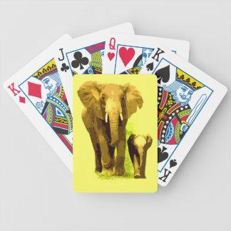 Elefante y elefante del bebé baraja