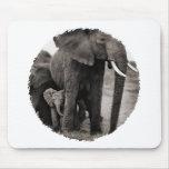 Elefante y elefante del bebé tapetes de ratones