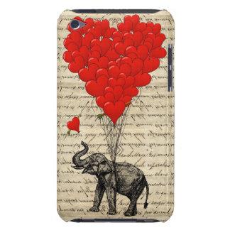 Elefante y globos en forma de corazón Case-Mate iPod touch cárcasa