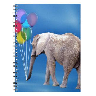 Elefante y globos libreta