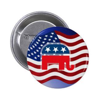 Elefante y los E.E.U.U. Flag.tif Pins