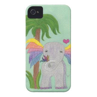 Elefante y mariposa BFF Case-Mate iPhone 4 Cárcasas