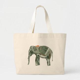 Elefante y mono bolsa
