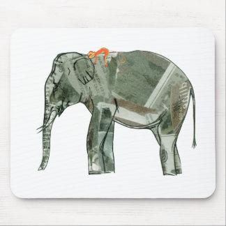 Elefante y mono tapete de ratones