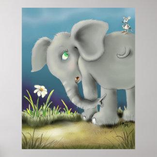 elefante y mouse_bak posters