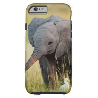 Elefante y pájaros del bebé funda resistente iPhone 6