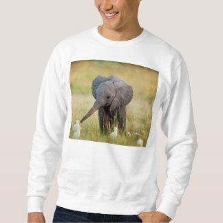 Elefante y pájaros del bebé sudadera