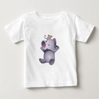 Elefante y ratón del bebé camisetas