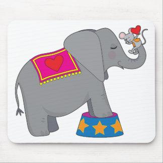 Elefante y ratón mousepads