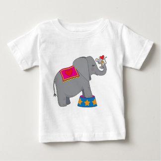 Elefante y ratón playera de bebé
