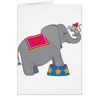Elefante y ratón tarjeta de felicitación