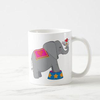 Elefante y ratón taza de café
