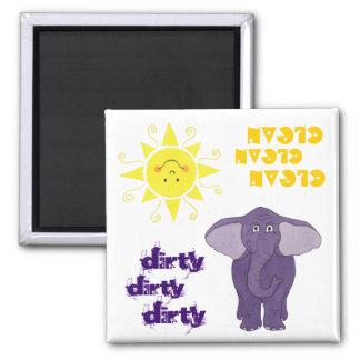 Elefante y Sun - imán del lavaplatos