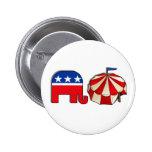 Elefante y tienda republicanos del circo pins