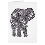 Elefante Zentangle Felicitaciones