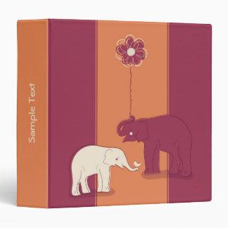 "Elefantes 1,5"" elegante carpeta"