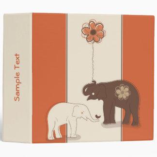 "Elefantes 2"" elegante carpeta"