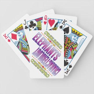 Elefantes 2 obsesionados baraja cartas de poker