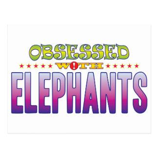 Elefantes 2 obsesionados postales
