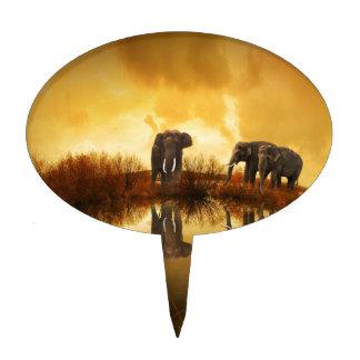 Elefantes Decoración De Tarta