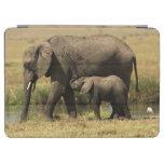Elefantes africanos en la piscina de agua cubierta de iPad air