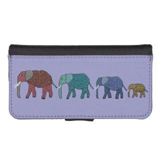 Elefantes africanos funda billetera para teléfono