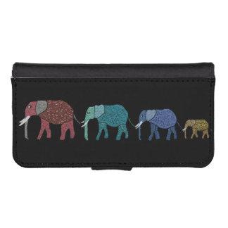 Elefantes africanos fundas billetera de iPhone 5