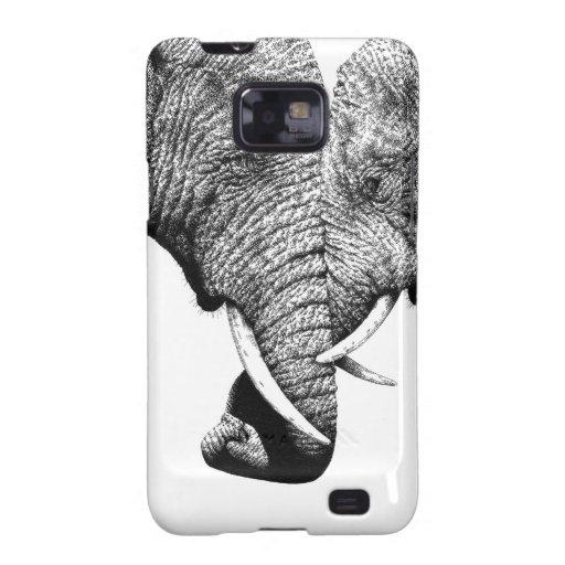 Elefantes africanos galaxy SII funda