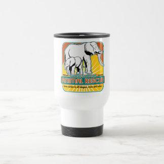 Elefantes animales del rescate taza de café