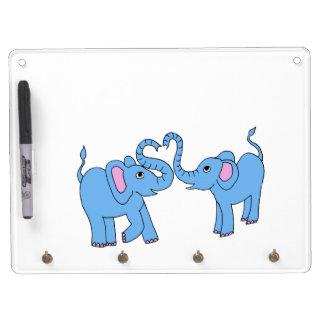 elefantes azules pizarra