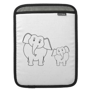 Elefantes blancos lindos. Historieta Manga De iPad